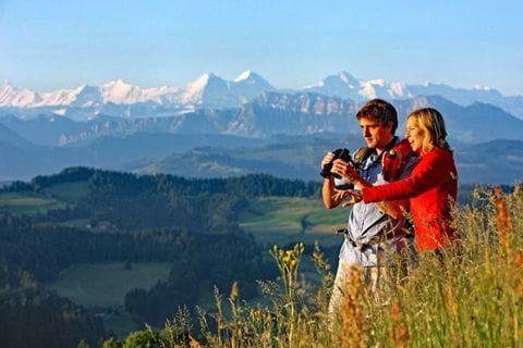 Traumhafte Aussicht auf das Berner Oberland