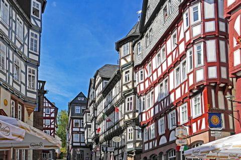 Fachwerkhäuser in Marburg