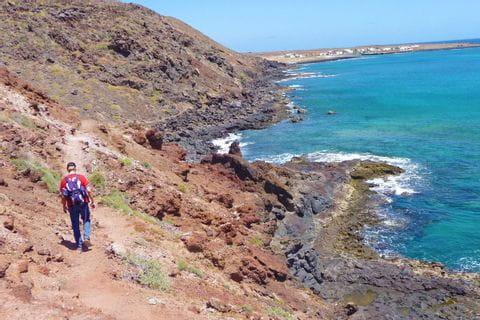 Küste von La Graciosa auf Lanzarote