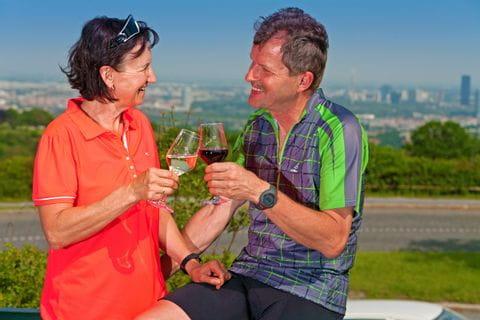 Romantische Weinverkostung am Wiener Kahlenberg mit Blick auf Wien