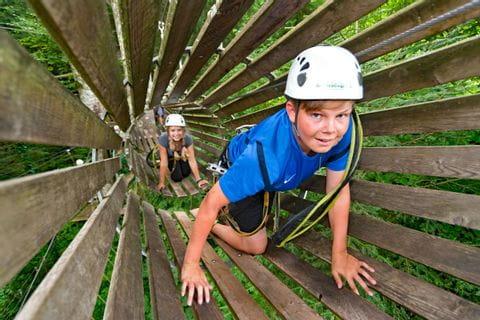 Kletterspaß im Hochseilpark in Seeham