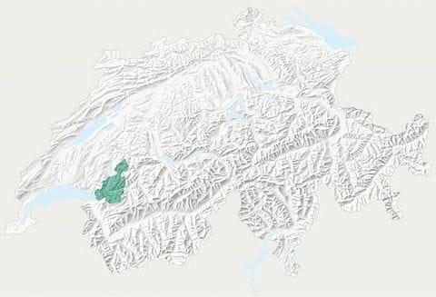 Karte Naturpark Gruyère Pays-d'Enhaut