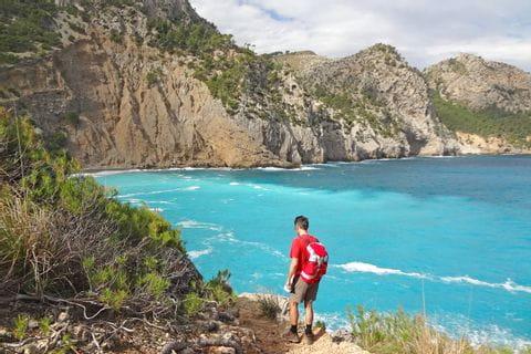 Wandern und Meer auf Mallorca Bucht Coll Baix