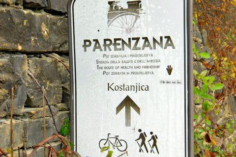 Wanderwegschild bei Istriens Wanderreise