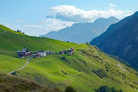 Enchanting Swiss mountain countryside