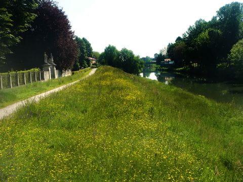 Radweg entlang des Flusses Brenta