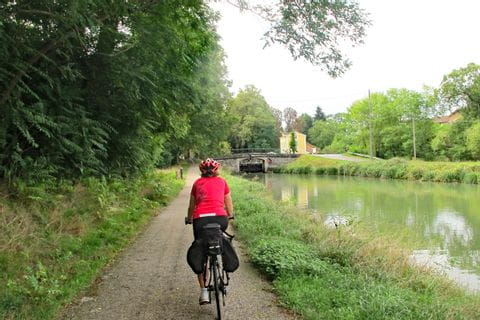 Radweg entlang des Kanals