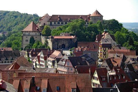 Blick auf Schloss Hohentübingen in Tübingen