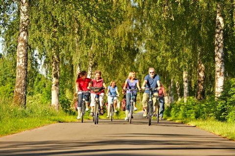 Radfahrer auf Fähre
