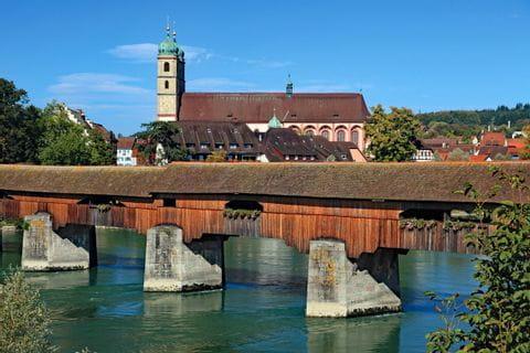 Überdachte Brücke in Bad Säckingen im Südschwarzwald