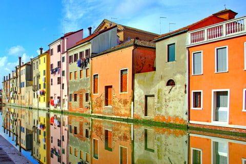 Bunte Häuser in Chioggia