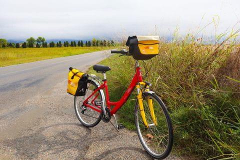 Bike on side road in Tuscany