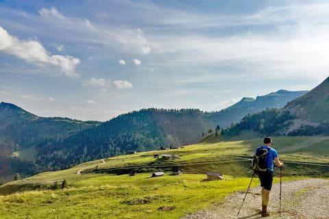 Einsame Wanderwege durch die Almlandschaften im Salzkammergut