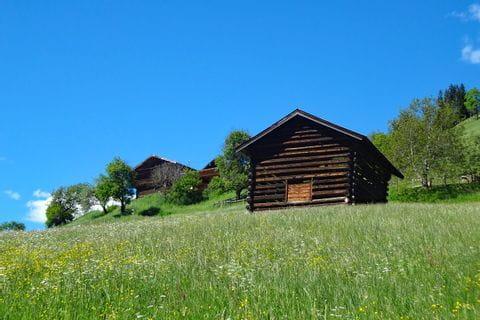 Einsame Almhütte im Pinzgau