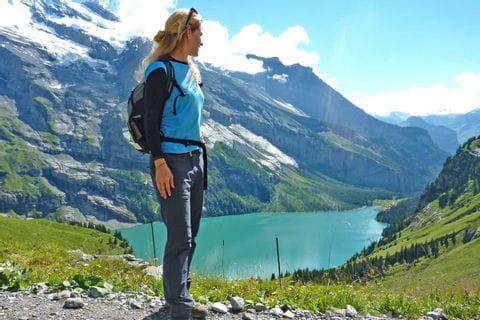 Beautiful view at the Lake Oeschinen