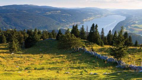 Chasseral mit Sicht auf die Alpen