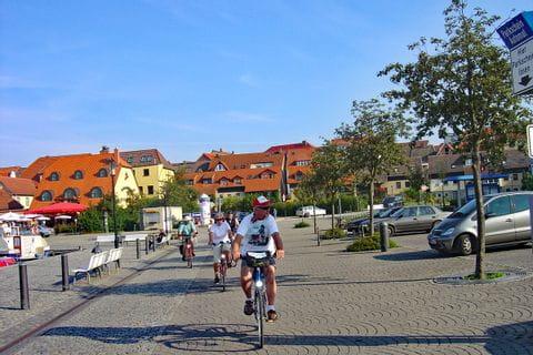 Gruppe von Radfahrer