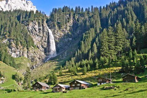 Enchanting waterfall at the Canton of Uri