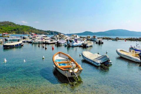 Bay with boats in Castiglioncello