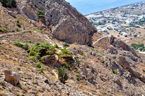Eizigartiger Bergblick in Santorin
