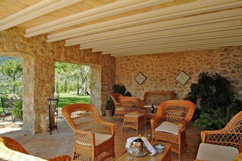 Aussicht vom Hotel Son Palou auf Mallorca