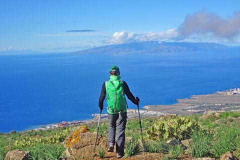 Wanderin auf Teneriffa