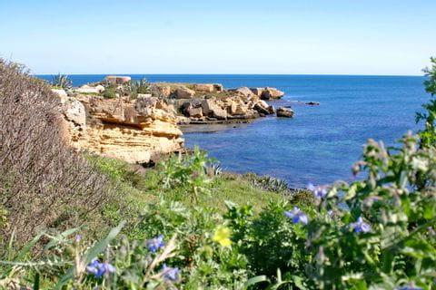 Rocky landscape at the sea