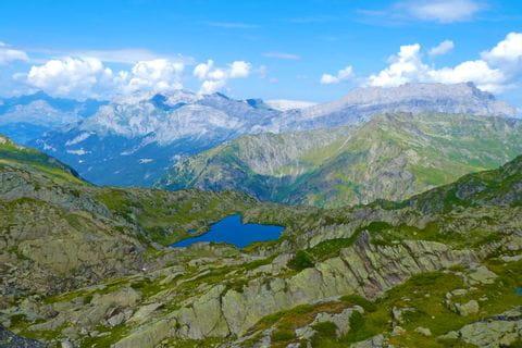 Massive französische Bergwelt