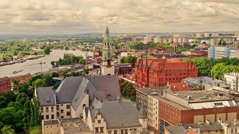 Stadtblick auf Stettin