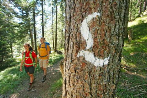 Wander-Markierung am Lechweg