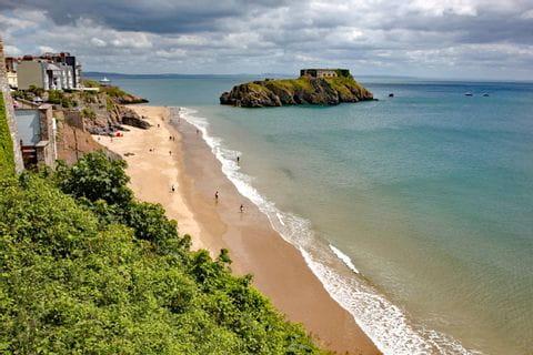 Küstenblick bei der Wanderreise in Wales