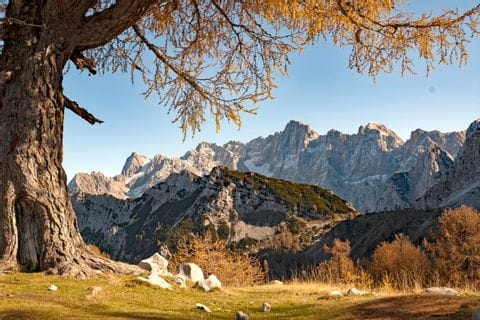 Panoramablick in den Julischen Alpen