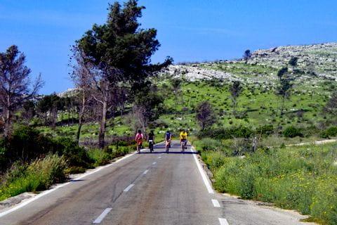 Radfahrer radeln in Dalmatien