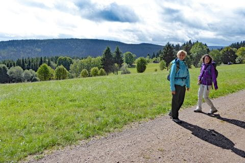 Excited hikers at the Black Forest