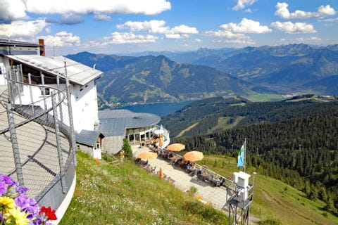 Faszinierender Rundblick der Schmittenhöhe