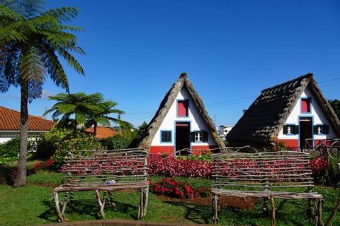 Typiskt hus i Santana