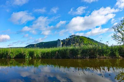 Grandiose Landschaft beim Panoramawandern