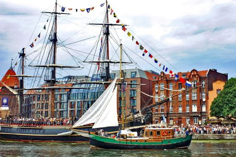 Boot im Danziger Hafen