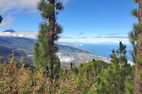 Bergwandern Teneriffa mit herrlichen Blicken auf die Küste