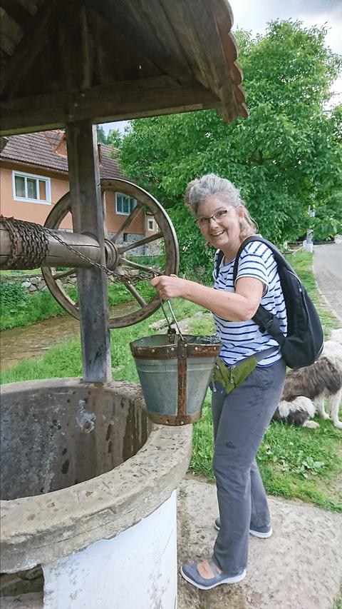 Katrin Brunner in Rumänien