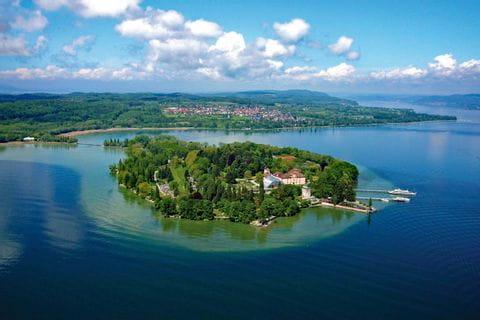 Blick auf die Insel Mainau im Bodensee