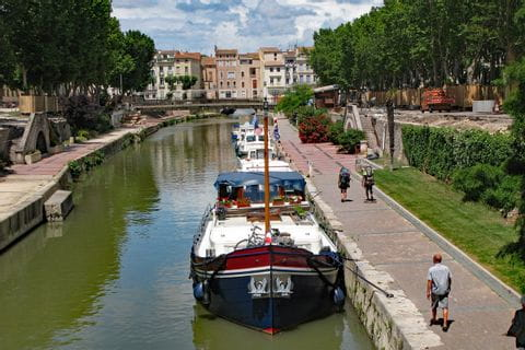 Boats on the Canal du Midi