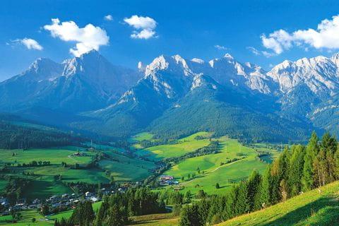 Atemberaubendes Alpenpanorama