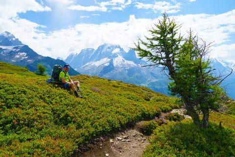 Wanderpause auf der Tour du Mont Blanc