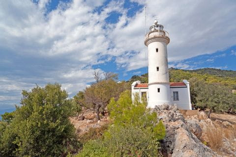 Leuchtturm am Mittelmeer