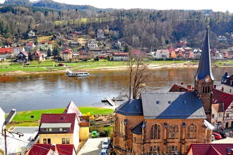 Schöne Aussicht vom Königstein