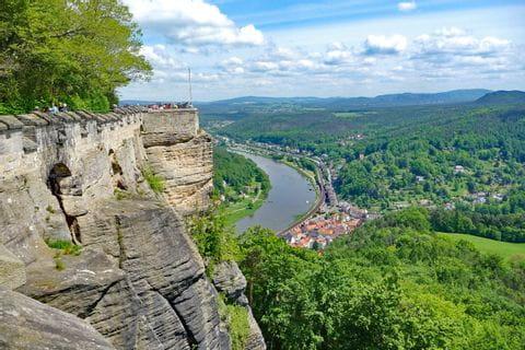 Blick von Burg auf die Elbe
