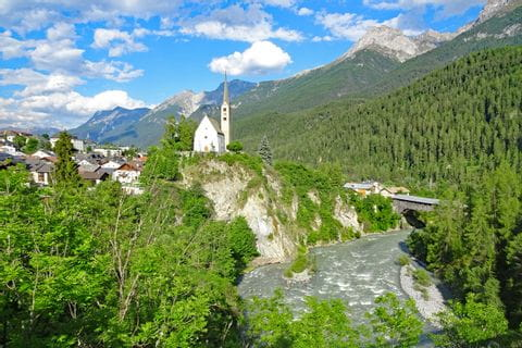 Overlooking Scuol