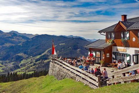 Schöne Aussicht von der Erichhütte