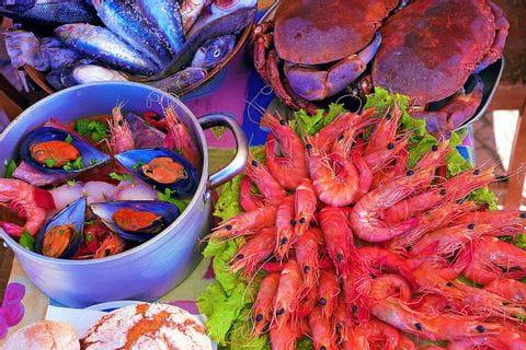 Große Auswahl an leckeren Meeresfrüchten